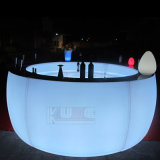Glow Curved Bar LED Curved Bar Illuminated Curved Bar Table