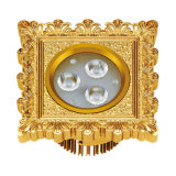 24k Gold Plated Brass LED Ceiling Lamp
