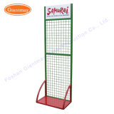 Metal High Quality Floor Hook Hanging Grid Wire Shelving Display Rack
