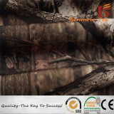 Compound Breathable Fabric/Tree Camouflage 4 Ways Spandex Fabric Bonded Polar Fleece