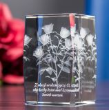 Green Plants for Crystal Glass Cube with 3D Laser Engraving