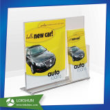 Customized Acrylic Menu Holder Display with Brochure Pocket