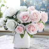 Factory Wholesale Artificial Silk Rose Flower Bouquet