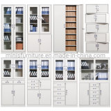 (M-FCA) High Metal Steel/Iron File Storage Cabinets with Glasses for Office/School/Hospital Furniture