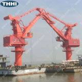 Thhi Lift Small Hydraulic Arm 5tons Marine Barge Crane