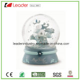 Water Decorative Polyresin Custom Snow Globe for Christmas Decoration, Ma