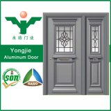 Exterior Design Wrought Aluminum Double Entry Doors with Good Price