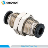 """Compact Push-to-Connect Fitting Airline Bulkhead Union 1/8"""", 1/32"""" 1/4"""" Tube Od"""