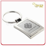 Customized Square Shape Engraving Souvenir Metal Key Chain
