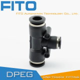 3-Way T Type Elbow Quick Connect Pneumatic Fitting