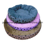 Round Shape Offset Printed Micro Mink Bed for Dog