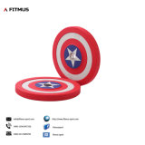 Superhero Weight Plates Captain America Shield Barbell Plates