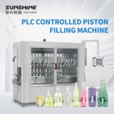 Automatic 50-1000L PLC Controlled Servo Piston Type Daily Chemical/Laundry Detergent/Shampoo/Sanitizer/Hair Conditioner/Washing-Cup Liquid Filling Machine