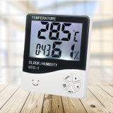 Hygrometer Indoor Outdoor Wall Clock Thermometer with Backlight