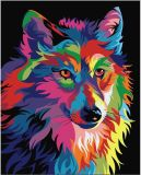 Factory Wholease and Retailer Colorful Lion Diamond Painting