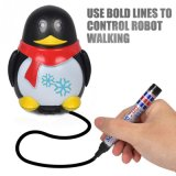 Drawn Line Magic Toy Inductive Penguin Follow Black Track Map Electrical Toys for Kids