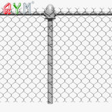 Galvanized Garden Sports Ground Diamond Wire Mesh Chain Link Fence