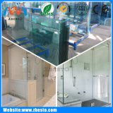 Customized Clear Bath Shower Screen Structural Tempered Float Glass Plate