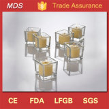 Wholesale Price Wedding Squared Clear Glass Candle Holder