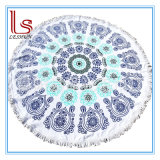 Customed Printed Round Mandala Tassels Beach Towels