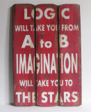 Wooden Plaque /Solid Wood Painting /Oil Painting /Painting Picture (P0405-0897)