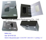 OEM Hard Cardboard Battery Packaging Box with Clear PVC Window
