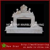 Wood Marble Fireplace, Marble Fireplace for Indoor or Outdoor