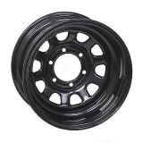 15X10 Daytona Black Wheel Offroad Steel Wheel