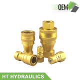 ISO 7241-B Brass Quick Coupler Fitting Hydraulic Quick Coupling