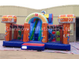 Customized Pirate Theme Inflatable Happy Funcity for Kids
