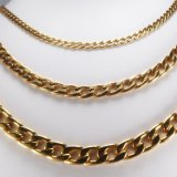 3mm 5mm 7mm Wholesale Bracelet Necklace Stainless Steel Figaro Chain Gold Plated Link Chain Women Jewelry