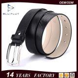 Embossed Custom Logo Pin Buckle Belt Genuine Leather Men Belt