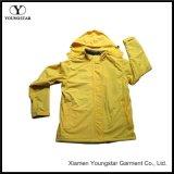 Windbreaker Ladies Yellow Waterproof Hooded Jacket