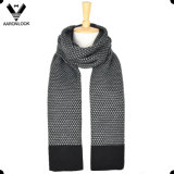 Fashion Jacquard Knit 30%Wool 70%Acrylic Men Winter Scarf