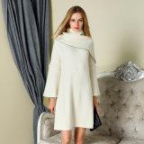 2018 New Design Women's Long Style Fashion Korean Style Sweater Dress White Color Wholesale