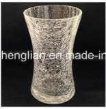 Hand Made Ice Crackle Glass Vase (V-028)
