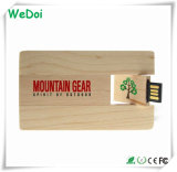 2.0 Wooden Card USB Flash Drive with 1 Year Warranty (WY-C21)