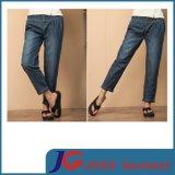 Waist Women Jean Trousers Casual Style Clothing (JC1382)