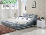 A117 Fancy Europe Bedroom Furniture Designer Bed with LED Light USB Charger