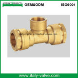 CE Certified Forging Brass Compression End Female Tee (IC-7015A)