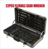 22PCS Adjustable Flexible Geared Ratchet Wrench