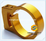 Professional Customized Golden Anodized Aluminium Al6061-T6 CNC Machined Fastener (F-245)