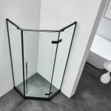 3 Pieces Glass Bathroom Corner Diamond Glass Shower Enclosure 900 X 900 mm Shower Room