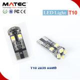 T10 2835 8SMD Canbus Bulbs Reading Light LED Car 168 194 W5w Bulbs Error Free 12V T10 LED Bulb