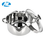 Stainless Steel Cookware Casserole Soup Pot with Colander Lid