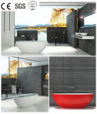 pH0608 Factory Discount Prices Oval Design Modern Style Solid Surface Resin Bubble Bath