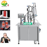 Semi Automatic Aerosol Filling Machine Aerosol Spray Paint Aerosol Filling Machine