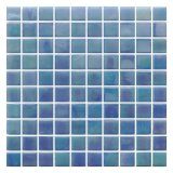 Swimming Pool Mixed Blue 20*20 mm Glass Mosaic Tile Wall Price