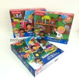 Custom Little People 3 Pack 18 Pieces Cardboard Puzzles Cartoon Jigsaw Kids Paper Puzzles