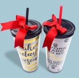 Classic Reusable Straw Plastic Tumbler Cup with Lid